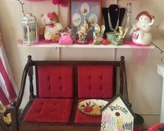 cute antique settee bench