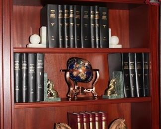 Books and Brick-A-Brac - Small Globe and 3 Pairs of Book Ends