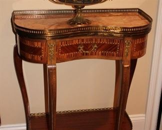 Demi-Lune Table and Decorative Bowl