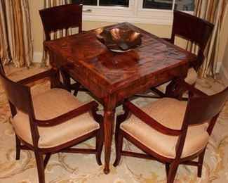 Great Game Table with 4 Chairs