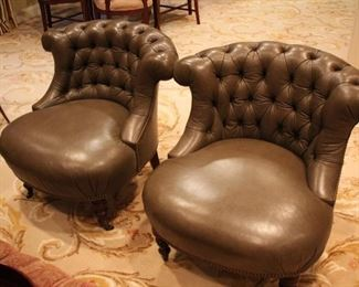 Pair of Chesterfield Chairs by Ralph Lauren