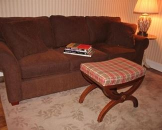 Sleeper Sofa and Bench with Lamp