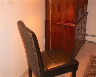 Side Chair and Floor Lamp