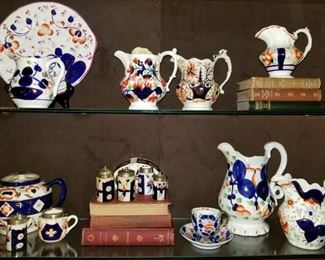Gaudy Welsh,Gaudy Welsh, Antique English Ironstone, Allertons