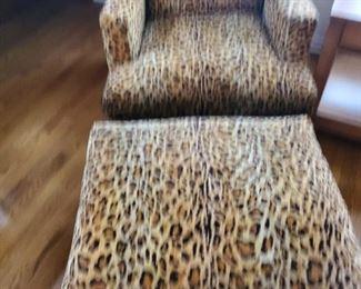 Mid century Dunbar Chair & Ottoman