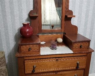 Early American marble top dresser