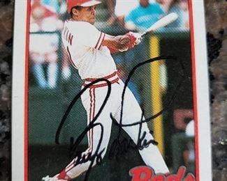1989 Topps Barry Larkin autographed