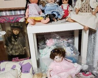 Vintage dolls and clothing
