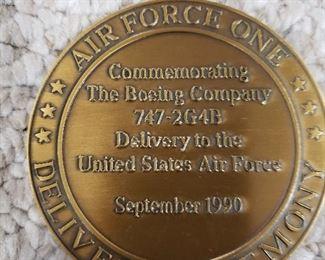Reverse of Boeing Air Force One metal