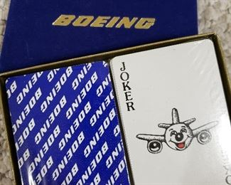 Boeing playing cards, in wrapper