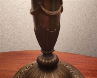 Detail of Bradley & Hubbard lamp base