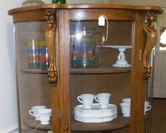 cabinet oak curio