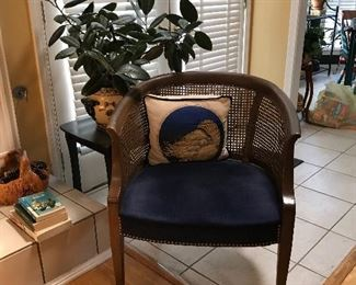 Nice rattan back cushion chair