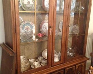 Fine looking china cabinet to match