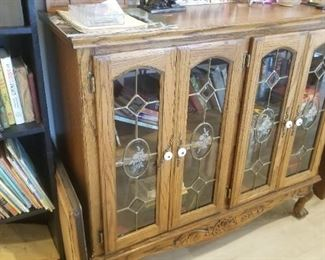 Nice leaded glass bookcase