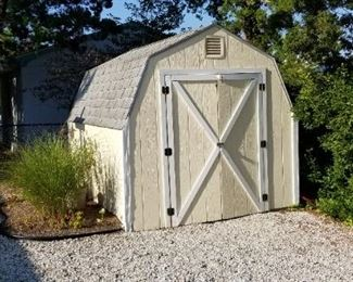 Shed is easy to remove. Approx. 8 ft. x 10 ft.