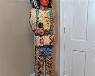 Ralph Gallagher Cigar Store Indian Sculpture full view