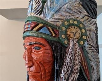 Ralph Gallagher Cigar Store Indian Sculpture