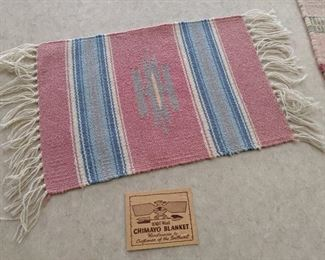 Handwoven Chimayo blanket, weaving