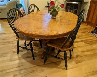 $375  Wood kitchen table with chairs