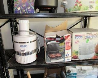 Food Dehydrator, Juicer, George Foreman Grill