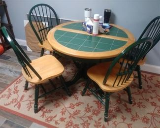Dinette table with four matching chairs