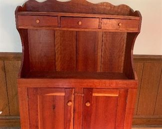 Available for Pre-Sell - Antique Step Back Hutch