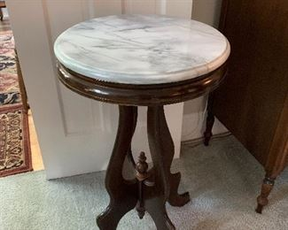 Available for Pre-Sell - Small Victorian White Marble Top Table