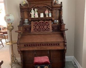 Available for Pre-Sell - Antique Solid Wood pump Organ