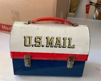 Vintage 1960's Aladdin U. S. Mail Lunch Box - Includes Thermos
