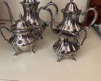 4 Piece Silver Plate Coffee/Tea Service