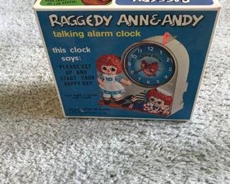 Raggedy Ann & Andy Talking Alarm Clock