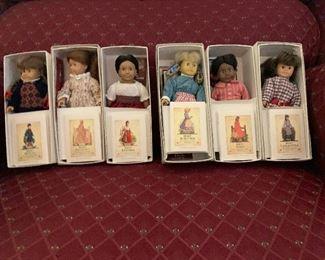 Set of 6 American Girl Mini Dolls - Samantha, Molly Josephina, Kirsten,  Felecity and Addy
