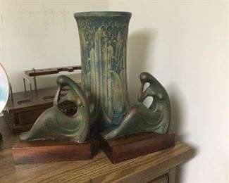 Monmouth Pottery & Deco Bookends