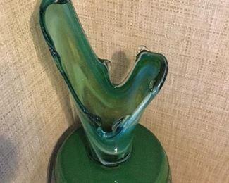 Big beautiful mid century art glass vase
