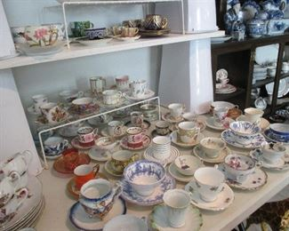 beautiful teacups and demi tasses