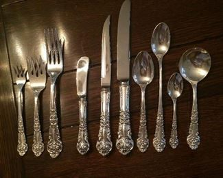 "reed and barton 'French Renaissance"" sterling  130 pieces!"