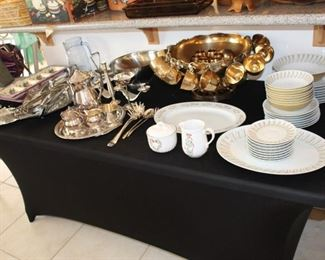 Porcelain and Silver plated ware