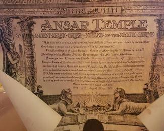 Old Ansar Temple Mason Documents