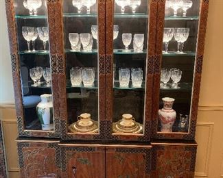 Stunning Asian Inspired China Cabinet