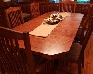 Mission Style Dining Room Set with 10 Chairs