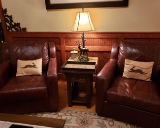 Set of 2 excellent Leather Chairs