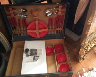 Old picnic suitcase