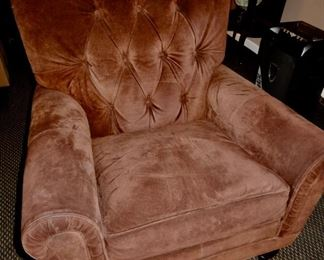 SUEDE CHAIR--ACTUALLY DARK BROWN