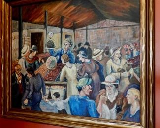 SCENE OF DETROITS FARMER'S MARKET IN THE 30'S