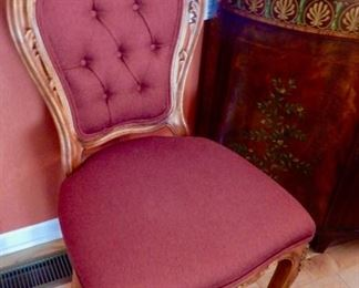 FOUR FABULOUS AND BELIEVE IT OR NOT, VERY COMFORTABLE CHAIRS .  SOLD IN PAIRS OR ALL FOUR