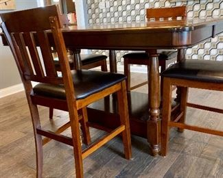 Tall kitchen/dining table w/4 chairs- another view
