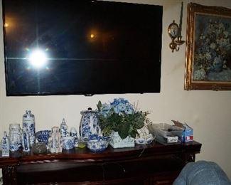 Flat Screen TV, Pottery,  wall decor