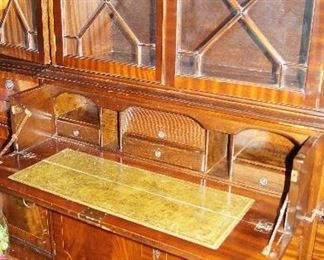 writing desk in china cabinet