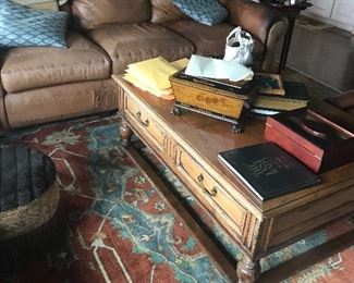 Wonderful square coffee table with drawers
